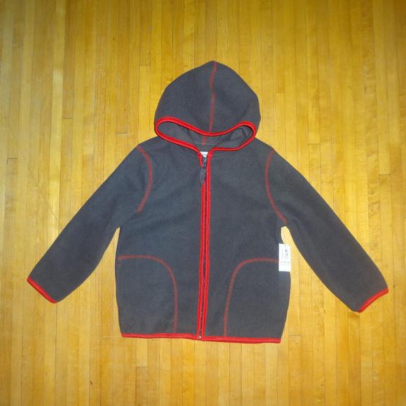 Old Navy Other - Old Navy grey red fleece zip up hoodie sweatshirt
